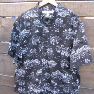 Men's Hawaiian inspired Shirt Slim Fit XXL